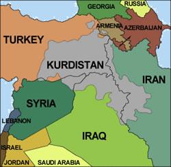 库尔德斯坦地图